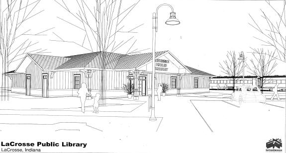 Drawing of new library
