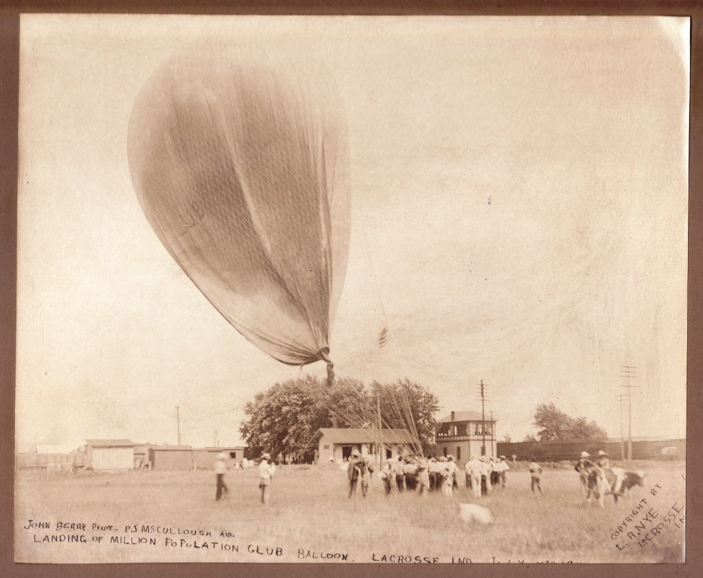 1911 Balloon Landing at LaCrosse