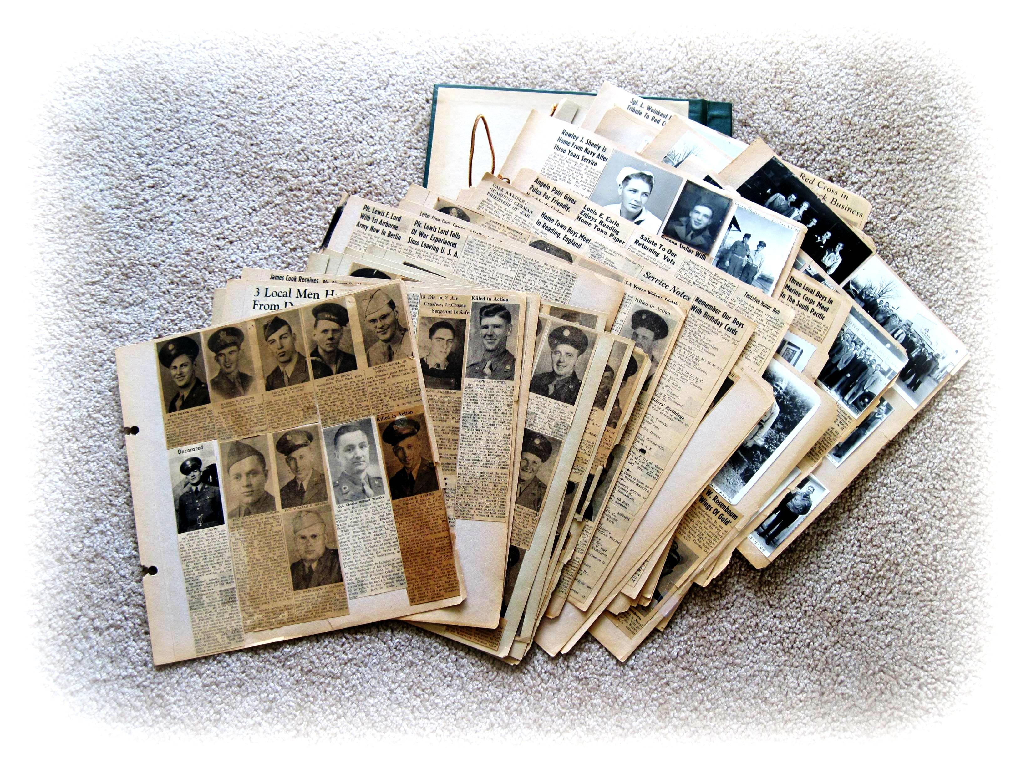 Scrapbook paper england - Clara Klawetter Of Lacrosse Wife Of Jule Klawetter Served As A Clerk On Selective Service Board No 3 Clara Kept A Scrapbook During World War Ii Of The