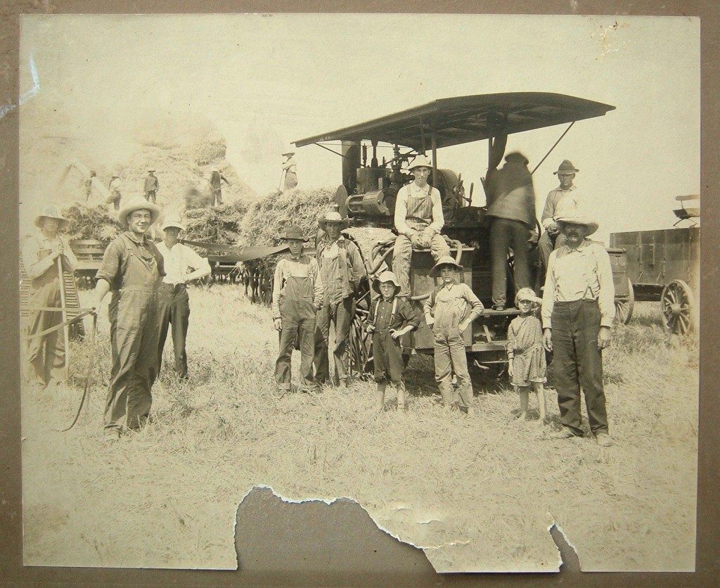 Harvest 1910 on Kellar Farm #3 cropped - darkened