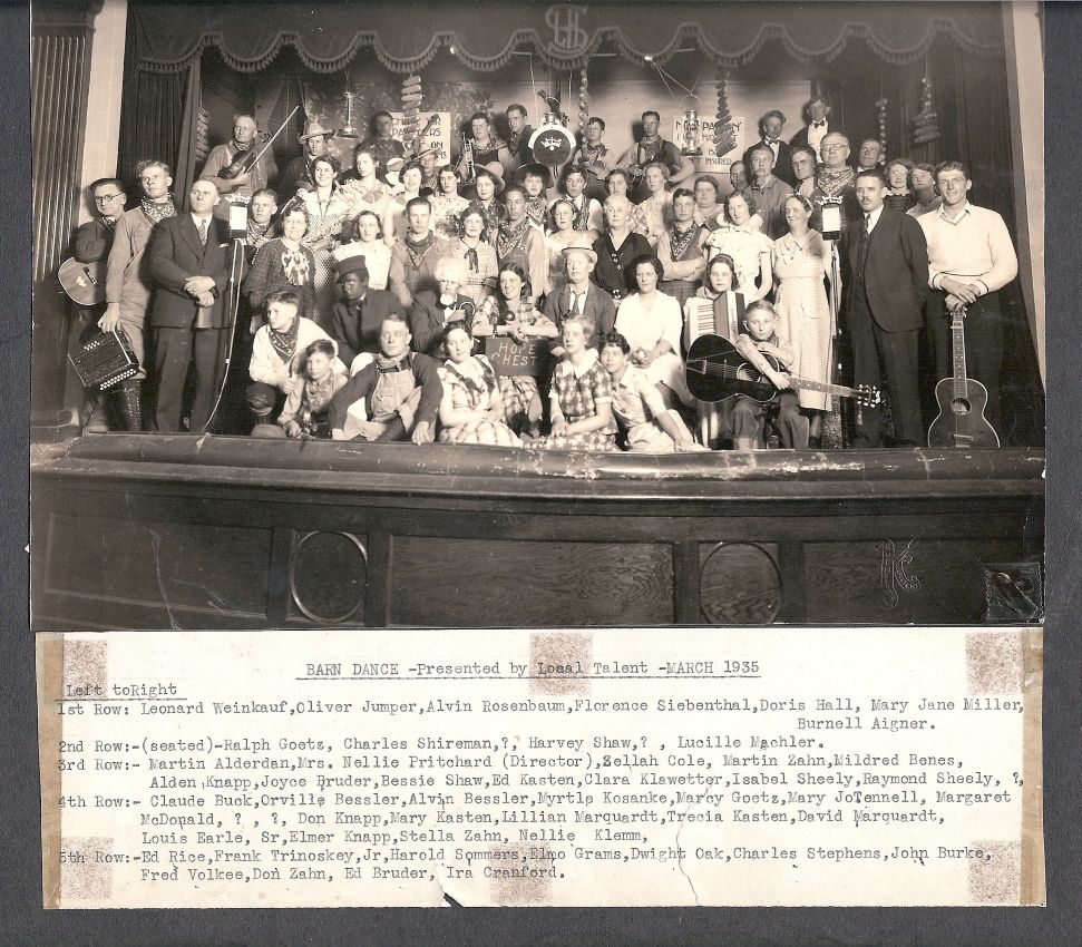 Barn Dance group picture - March, 1935