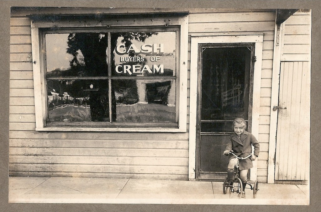 Mathews Creamery - about 1937 - Mary Pauline Mathews #2